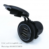 Buy cheap DC 12V-24V Dual USB Outlet 4.2A Port Socket Charger DS2013n New Touch Switch product