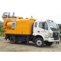 China Easy Moving Mobile Trailer Mounted Concrete Pump With Double Shaft Mixer on sale