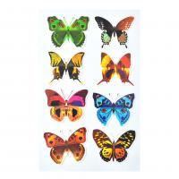 Buy cheap Magical TPE reusable Non Glue Colorful Buttterfly Stickers Stick On Any Smooth Surface Kids nice gift stickers product