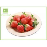 China Round Shape 9'' Disposable Bamboo Plates For Wedding Party 100pcs / Bag wholesale