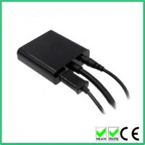 Varón micro de HDMI al adaptador hembra de VGA con 3,5 milímetros del cable de audio +usb de poder del micrófono