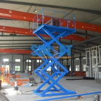 Buy cheap 1T Stationary Hydraulic Scissor Lift Elevator , Pallet Scissor Lift Platforms product