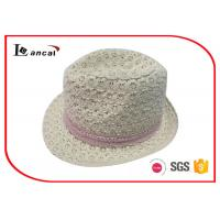 Buy cheap Pink Crochet Ribbon Waterproof Trilby Hat Felt Fedora Hats For Women product