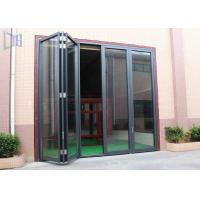China Commerical Building Aluminium Folding Doors Energy Saving With Double Glazing Glass on sale