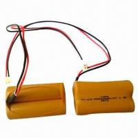NiCd Rechargeable Battery Pack, AA, 900mAh, 4.8V