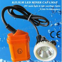 China 3.5Ah Rechargeable LED Mining Light , Safety Lamp For Miners 4000lux A wholesale