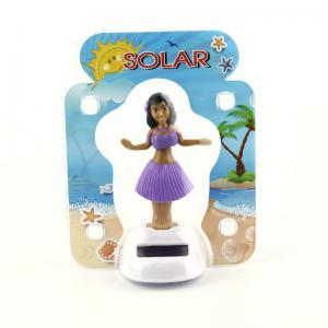 Солнечная приведенная в действие танцуя игрушка приборной панели автомобиля костюма Хула Девушк-пурпурная (цвета меняют)