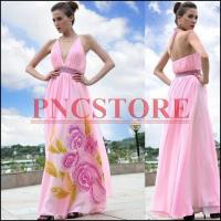 China Wholesale pink sexy evening dress Ladies Prom dress Elegant Party gown supplier Fashion dress 30189 on sale