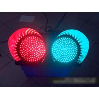 China 2 Color Solar Powered Traffic Signs Red Green Flashing Signal Light on sale