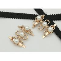 Buy cheap Big Pearl Zinc Alloy Buckle 35*2MM 5.3g Easy To Assemble Environmental Plated product