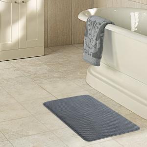 "China Lifewit 32"" x 20"" Anti-slip Bath Rugs 40D Ultra Soft Bathroom Mat Anti-Fatigue Memory Foam Kitchen Rug Grey wholesale"