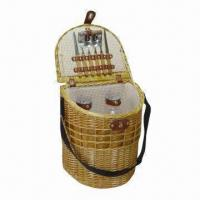 Buy cheap Picnic Willow Basket, Wine Gift/Storage Boxes, Handmade/Eco-friendly/Various Colors/Styles Available product