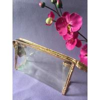 OEM Eco Friendly PVC Packing Bag Sewing Clear Zipper For Cosmetic / Makeup