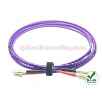 Buy cheap OM4 Fiber Patch Cord LC - LC Duplex Fiber Patch Cable Stable Performance product