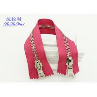 Buy cheap Jeans / Shoes Open End Two Way Metal Zip 8# Shiny Golden Teeth Light Purple Tape product