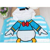 Comfortable Donald Duck Mickey Mouse Hooded Poncho Towels For Boys / Girls