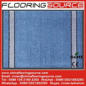 Buy cheap Corte el pvc de las fibras del polipropileno de la estera del piso de la entrada de la alfombra de pila bakcing product