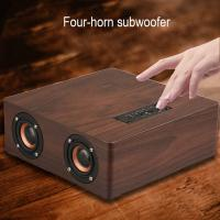 China 4 Power Horn Subwoofer Speakers Powerful Bluetooth Speaker With 3.5mm Aux Cable on sale