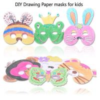 Buy cheap Kids DIY Festival Party Decorations Paper Mask With Colored Box Packaging product