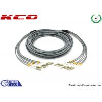 Buy cheap Multi Mode LC to LC 6 Cores Armored Fiber Optic Patch Cord Insertion Loss 0.2dB 3.0 mm Diameter product