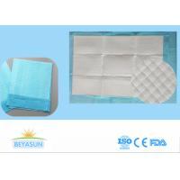 China Disposable Incontinence Bed Sheets Protectors , Sanitary Bed Pads Blue Color on sale
