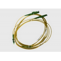 Buy cheap Singlemode 9/125 OS2 Fiber Optic Patch Cord E2000 APC to LC APC from wholesalers