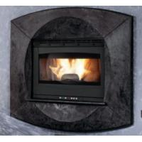 China Modern Style Insert Wood Burning Stove Self Cleaning 75 / 80mm Smoke Outlet on sale