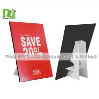 Buy cheap Customized A4 Size Cardboard Standee Advertising Paper Pop Display product