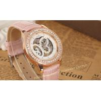 Buy cheap Analog Large Face Womens Wrist Watches Leather  Pink Fashion Hand Wind Mechanical Wrist Watch product