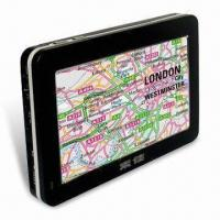 Buy cheap Portable GPS with 4.3-inch Samsung Super Hi-clear Digital Touching TFT LCD Screen, Supports SD Card product