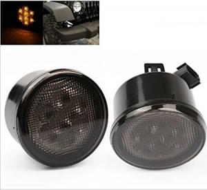 China Yellow Front Jeep Wrangler Turn Signal Lens, Smoke Len Jeep Wrangler Tail Lights on sale