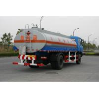 Fuel Oil Tank Truck 12600L , Dongfeng Chassis Transport Fuel Tanker Truck 4x2