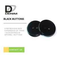Buy cheap Fashionable Decorative Black Buttons Four Holes High Wear Resistance product