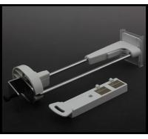 China COMER slatwall security display hook / pegboard display security hook / security display hook on sale
