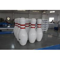 Buy cheap Interactive Outdoor Big Sealed Inflatable Bowling Game Airtight EN14960 Standard product