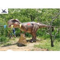 Eyes Blink Dinosaur Lawn Ornament , Life Size Animal Statues For Amusement Park