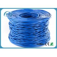 Buy cheap 8 Number Conductor Cable Ethernet Cat 6 305m / Roll 0.2mm Insulation With Blue Color product