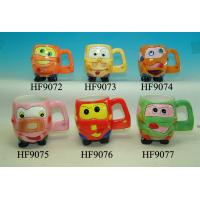 Buy cheap Cartoon Custom Ceramic Mugs Cup With Animals Head Relief 11.5 X 8.5 X 10 Cm product
