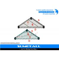 China Triangle Shaped Chrome Wire Shelving , Stainless Steel Wire Shelves For Garage / Kitchen on sale