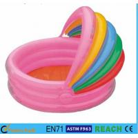 Buy cheap Rainbow Canopy Inflatable Swimming Pool Durable 0.2mm Material For Infants Toys from wholesalers