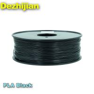 China ODM PLA 3d Printer Filament Dimensional Accuracy +/- 0.03 mm 1 kg Spool 1.75 mm Black on sale