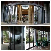 Buy cheap Cenvention Center Horizontal Frameless Glass Wall  Clear Dry Pvc Joint product