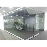 Buy cheap Office Aluminum Sliding Movable Frameless Glass Partition Wall product