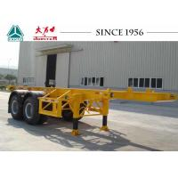 Buy cheap Long Lifespan Container Chassis Trailer 20 FT 2 Axle For Container Port product