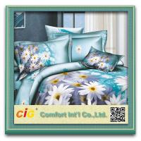 Buy cheap Shrink Water 100% Cotton  3D Bed Sheet Set For Printing Bedding Sheets product