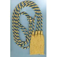 Buy cheap 52 Inches two soft multi color rayon honor cords with 4 inches tassels on both ends product