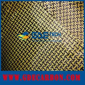 Buy cheap 黒くおよび黄色繊維の組合せカーボン ケブラーの雑種の生地 product
