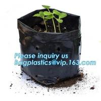 Buy cheap Wholesale Poly Black Square Garden Plastic Baby Flower Plant Nursery Poly Bags for Hydroponics,1gal 2gal 3gal 5gal 7gal product