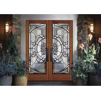 Buy cheap Removable Theft Proof Decorative Panel Glass Brass / Nickel / Patina Caming product