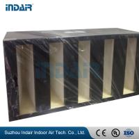 Buy cheap Mini Pleat Design V Bank Air Filter , Firm Structure V Type Filter Glass Fiber Media product